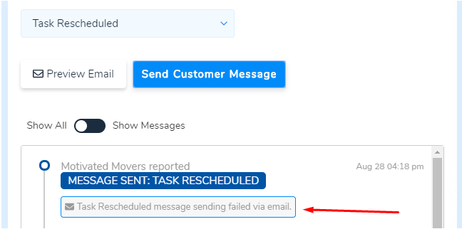 Email/SMS Non-delivery